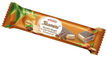 Bio-Tiramisu Riegel mit Vollmilch-Schokolade überzogen