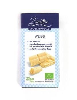 Biosüße Bio-Schokolade Weiss Tafel 40g