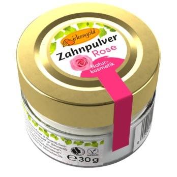 Birkengold® Zahnpulver Rose Glas