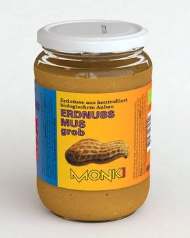 Erdnussmus grob, bio Monki