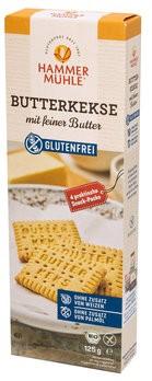 Butterkekse mit Butter