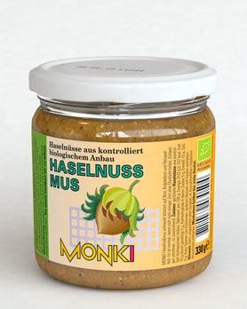 Haselnussmus, bio Monki