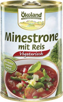 Minestrone mit Reis vegetarisch