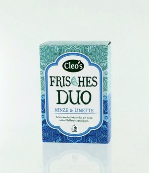 'Frisches Duo Tee Cleo''s 18 Fb, bio'