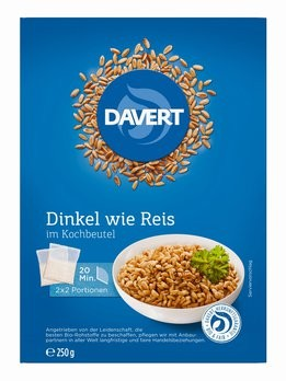 Dinkel wie Reis im Kochbeutel