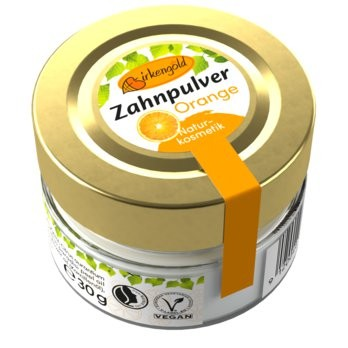 Birkengold® Zahnpulver Orange Glas