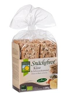 Schwarzkümmel & Käse, Snäckebrot