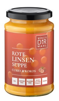 Rote Linsensuppe Curry & Kokos