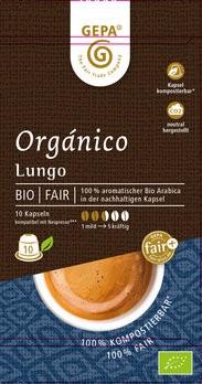 Bio Orgánico Lungo Kapsel