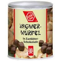 Ingwer-Würfel in ZB-Schokolade