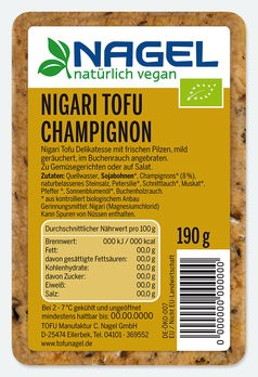 Nigari Tofu Champignon 190g