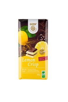 Lemon Crisp eiße Schokolade mit Zitronencrisp und Zartbitterschokolade