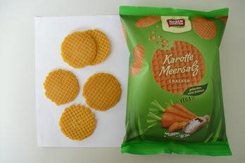 Karotte-Meersalz Gemüse-Cracker